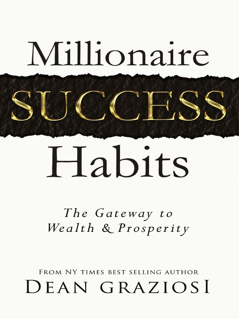 Millionaire success habits american middle class entrepreneurship fandeluxe Images