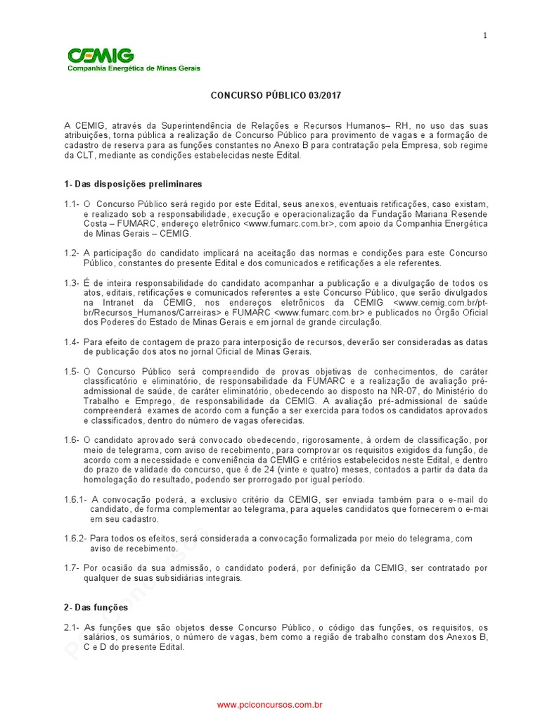 7656e1f502278 CEMIG Edital de Abertura n 03 2017