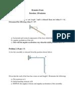 Dynamics Exam
