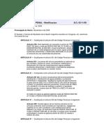 Ley 26524 Modificación Del Código Penal