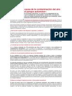 La Principal Causa de La Contaminación Del Aire en El Perú Es El Parque Automotor