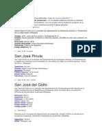 Alcaldes de Los Departamentos de Guatemala