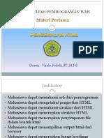 Materi 1 Pemrograman Web