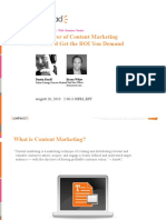 Put The Power of Content of Power Content Marketing To Work
