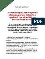 Rompere Il Ghiaccio - Seminario 2 Ottobre Trieste - Pagina Per Scribs