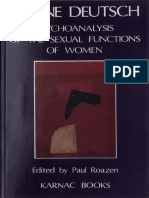 Deutsch Psychoanalysis Sexual Function Women