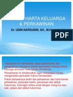 Hukum Keluarga Harta Benda Perkawinan (1)