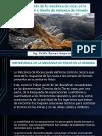 Presentacion N° 9 Aplicación de la mecánica de rocas en la selección y diseño de métodos de minado