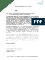 Carta Informacion Tarjeta Asistencia
