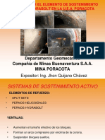 Implementar El Elemento de Sostenimiento Activo Hydrabolt en La u.e.a. Poracota