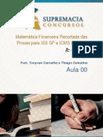 Aula 00 Matemática Financeira Carreiras Fiscais FCC