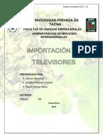 Importación de Televisores