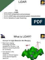 LiDAR Notes