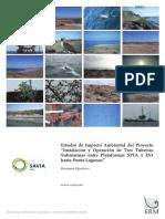 """Estudio  de  Impacto  Ambiental  del  Proyecto  """"Instalación y Operación de  Tres  Tuberías  Submarinas  entre  Plataformas  SP1A  y  ES1 hasta Punta Lagunas"""