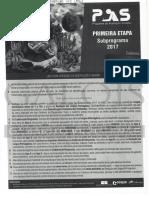 PAS 1 (2017) -  Gabarito extraoficial