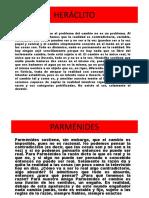 EL Cambio HERACLITO-PARMENIDES