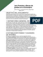 Guía Para Postular a Becas de Postgrados en El Extranjero