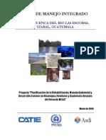 Plan de Manejo de la Cuenca del Rio Las Escobas