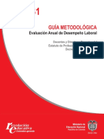 Guía No. 31 Guía Metodológica Evaluación Anual de Desempeño Laboral.pdf