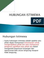 5. HUBUNGAN ISTIMEWA