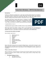 Managing Teachers Stress