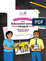 SESIONES DE TUTORIA  SOBRE EDUCACION SEXUAL INTEGRAL-Manual para Docentes