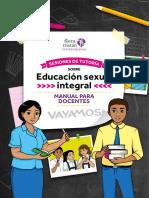 SESIONES DE TUTORIA  SOBRE EDUCACION SEXUAL INTEGRAL-Manual para Docentes