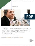 Entrevista a Cosenzo (Obesidad Mencionada)