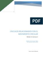 Cálculos Que Involucran Movimiento Circular