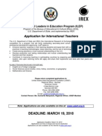 ILEP Application USIEF
