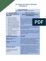 Modelo de Diario de Doble Entrada Semana.