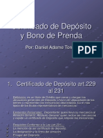 Cert de Dep y Bono de Prenda Presentacion