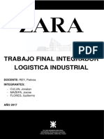 Análisis del modelo de negocios y logistica de Zara - Inditex