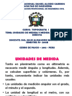 Diap. Top. I Medida de Distancia Directa (4ta Clase) - 2015B