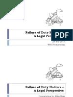 Failure Duty Holders