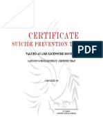 suicide prevention training certificate with signature