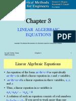 CHE 555 Linear Algebraic