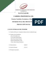 Informe Final Proyecto Proyección Social