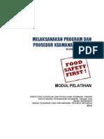 6. Modul Melaksanakan Program Dan Prosedur Keamanan Pangan