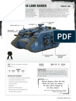 m1180072 Space Marines Datasheet - Terminus Ultra Land Raider