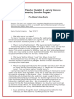 rachel cummins lp4 pre-observation form 10-30-17