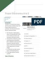 Thyristor Basics Tutorial - Power Electronics a to Z
