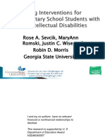 Reading Interventions for Elementary School Students With Mild Intellectual Disabilities