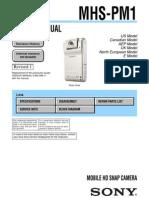 SONY MHS-PM1 SERVICE MANUAL VER 1.1 2009.06 REV-1 (9-852-668-12)