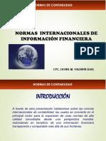 SEMANA 3° NORMAS INTERNACIONES DE INFORMACION FINANCIERA