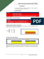 Sesión 13 Matrices - Excel