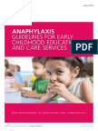 Anaphylaxis Guidelines For Early Childhood Education And Care Services