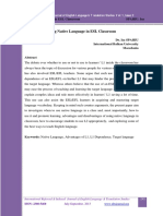 using native language in esl classroom