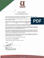 equinoterapia volunteer letter