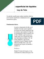 Tensión Superficial- Método de La Gota- LEY de TATE